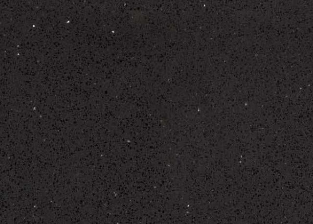 Obsidian Black Quartz Kitchen and Bathroom Countertops by TC Discount Granite